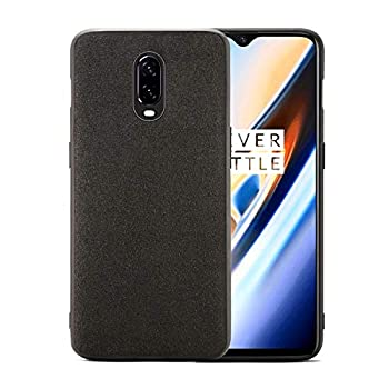 Orzero Case for OnePlus 6T Luxury Alcantara Material Scratch Resistant Anti Slip Grippy TPU Soft Frame Washable Full Body Cover Heavy Duty Protection -Dark Grey