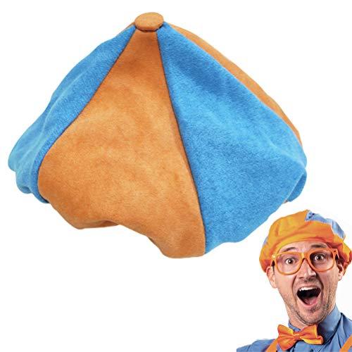 Cosplay Baskenmütze - Kinder Englisch Aufklärungsshow Blippi Plüschpuppe Puppe Spielzeug Stoffpuppe Cos-Hut