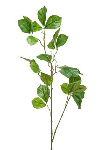 artplants.de Rama de parthenocissus sintética Ulric, Verde, 120cm - Rama de decoración de Vid - Tallo de Parra Virgen Artificial