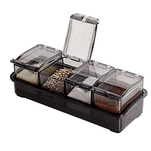 Spice Opslag Kruiden Jar Huishoudelijke Keuken Kruiden Doos Set Vochtbestendige Plastic Combinatie Kunstdoos Kruiden…