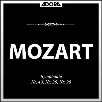Mozart: Symphonie No. 43, 26 und 28