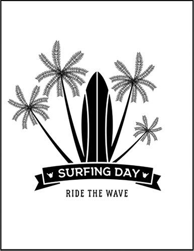 【サーフィン ヤシの木 ロゴ】 余白部分にオリジナルメッセージお入れします!ポストカード・はがき(白背景)