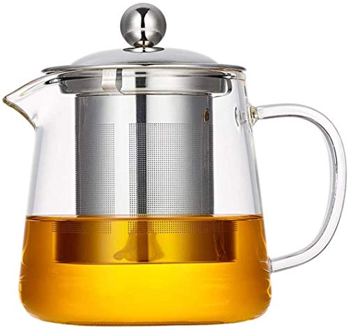 Teapots Teapot 1500ML Glass Kettle With Stainless Steel Strainer Housewares Tea Pot For Coffee Brewing Safe Boiling Water Kitchen Utensils (Size : 1500ML) Size:950ML (Size : 950ML)