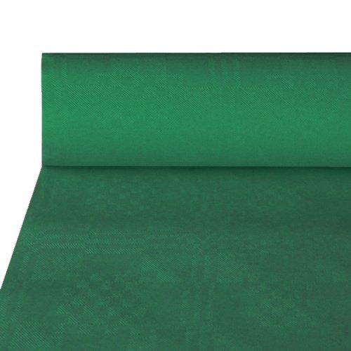 Papstar NEU Tischdecke dunkelgrün, Damastprägung, 50x1m