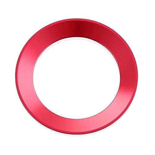 Emblem Trading Alu Lenkrad Ring Für Logo Rahmen Blende Rot Passend Für Polo Golf 6 7 Passat B7 B8 Tiguan Mk1 Mk2 Touran Mk1 Mk2 T-Cross T-Rock