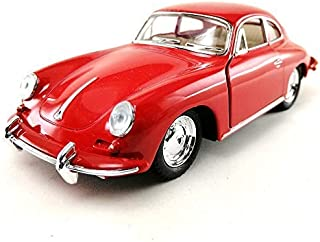 KiNSMART 1962 Porsche 356 B Carrera 2 Red Color 1:32 Die-Cast Model Toy Car Collectible Hobby Classic Car Collection