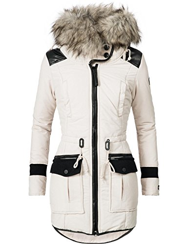 Khujo Damen Winter Mantel Winterparka YM-Retro Bugs Moonbeam Gr. L
