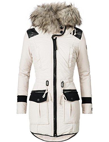 Khujo Damen Winter Mantel Winterparka YM-Retro Bugs Moonbeam Gr. S