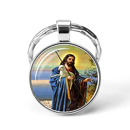 TAIYING Christian Jesús Imágenes Colgante Llavero Mujeres Bolso Encanto Llavero Hombres Coche Llaveros Joyería De Moda Acc