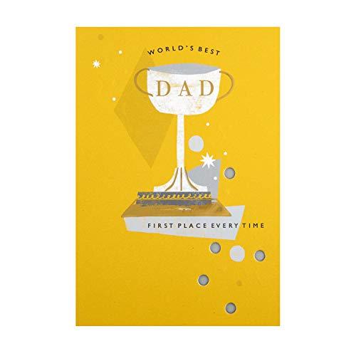 Hallmark - Tarjeta para el día del padre para papá, diseño de trofeos