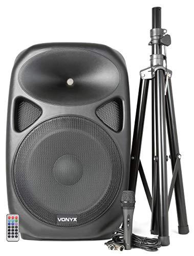 VONYX SPS152 ACTIVE BAFFLE 15 'SD / USB / MP3 / BT WITH TRIPOD