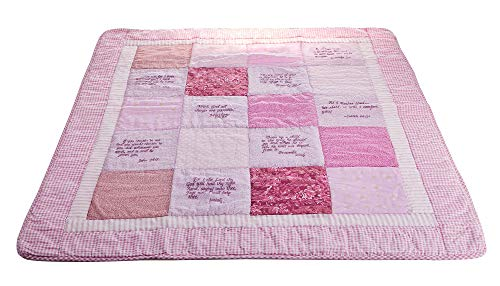 Stuff4Tots Inspirational Baby Blanket - Beautiful, Soft Cotton Baby Blanket for Boys and Girls - Crib Blanket Embroidered with Scriptures - Unique Gift for Newborns, Infants, and Toddlers - Girl