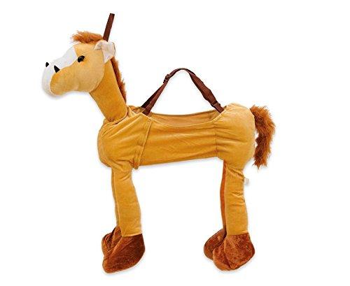 Betzold Schlüpfkostüm, Hellbraunes Pferd – Kinder-Kostüm für Theater und Fasching / Karneval, Größe 104-128