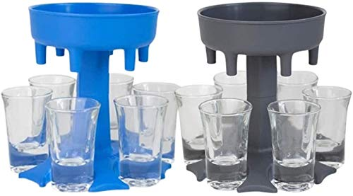 LOPP Shot Glass Dispenser Six Ways, Great Party Gift for Bar Multiple Shots Cocktail Dispenser, Drinking Games for Cocktail Party Get Togethers Girls Weekend (2 Sets Without Glass)