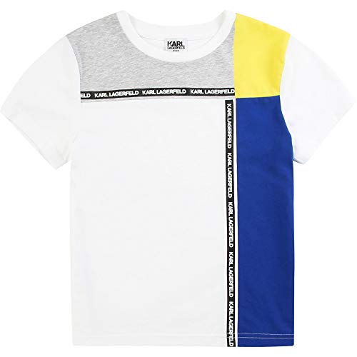 Karl Lagerfeld Kinder-T-Shirt, kurzärmlig, Weiß, 16 A