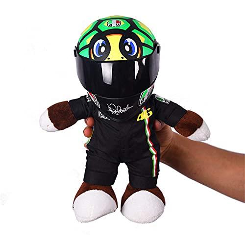 Mini casco de motocicleta + muñeca oso decoración del hogar adorno casco ornamento muñeca juguete (Greenturtle)