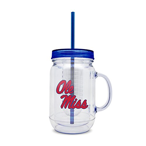 Duck House NCAA Mississippi Rebels Klauenhammer, Kunststoff-Ei Mason Jar mit Stroh