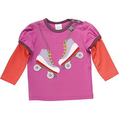 Fred'S World By Green Cotton Hello Rollerblades T T-Shirt, Violet (Violet 018302708), 92 Bébé Fille
