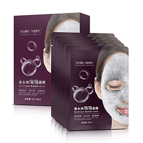 Allbestaye Oxygen Bubble Mask Gesichtsmaske Feuchtigkeit Tiefenreinigung Porenreinigung Gesicht Spa