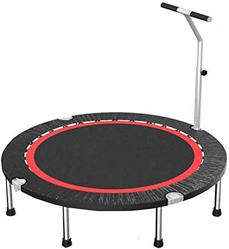 LuoMei Large Kids Trampoline Foldable Small Exercise Rebounder Adjustable Armrests Workout Fitness Weight Lossblack,