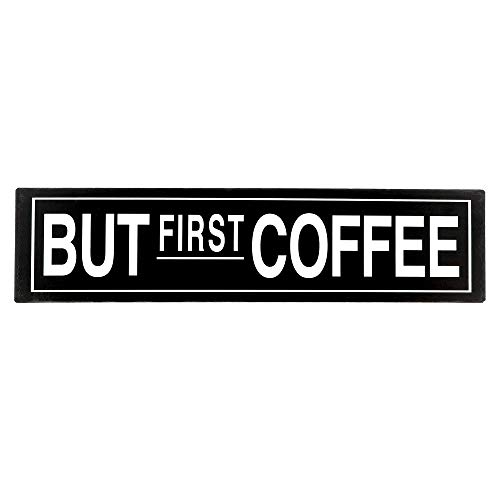 """Barnyard Designs But First Coffee Retro Vintage Tin Bar Sign Rustic Country Home Decor 15.75"""" x 4"""""""