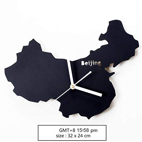 TRN Tisch, Uhr, Uhr, Geschenk, Uhr, Haushalt, Uhr, Wohnzimmer, einfache Uhr, Wanduhr, Wohnzimmer, europäische Quarzuhr, Uhr, Wanduhr, doppelseitige Uhr, Uhr,Peking