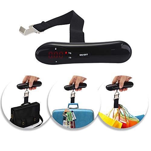 MOIX Digitale Küchenwaage Neue Digitale Waage für Gepäckwaage mit LED-Anzeige für Reisen 110 Pfund Elektrische Küchenwaage Edelstahl