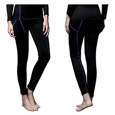 FITEXTREME Womens MAXHEAT Fleece Seamless Thermal Underwear Bottom Black M from
