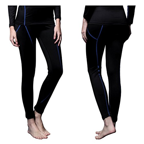 FITEXTREME Womens MAXHEAT Fleece Long Johns Thermal Underwear Bottom Black S