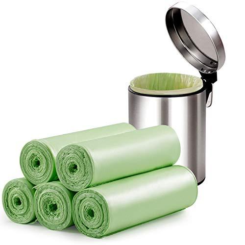 Kompostierbare Müllbeutel 20l, Biomüllbeutel 4-6 Gallonen 100 Zählungen, Dicker Abbaubarer Müllsack kompostierbar Für Lebensmittel-/Haushalts-/Gartenabfälle in Küche-/Büro-/Haushalt-/ Haustier