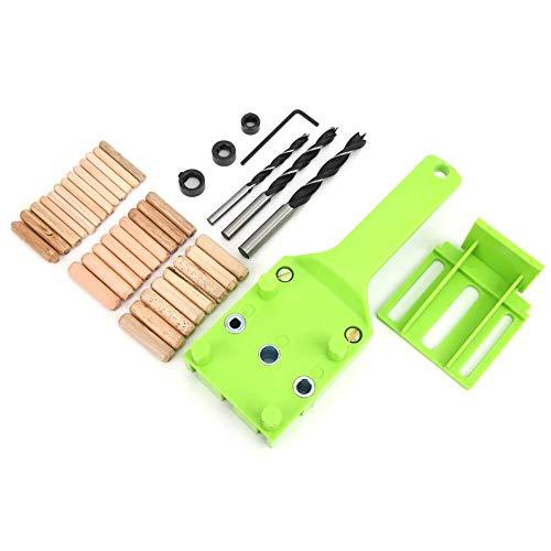 Dübelvorrichtung, 38 Stück Universal High Precision Jig Dübel Cam Jig Minifix Jig Kit, Bohrwerkzeug für die Holzbearbeitung 6 mm 8 mm 10 mm Bohrer-Kit