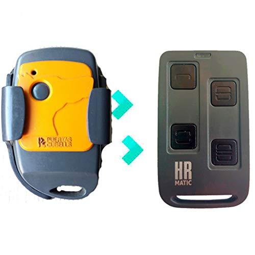 Mando de Garaje HR R4OM4P compatible con PUERTAS CUBELLS E4C DCS PLUS JCM