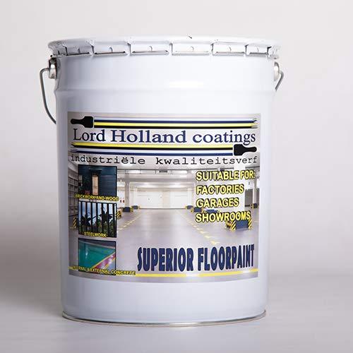 Pintura de suelo de poliuretano ultrarresistente, colores RAL 7035 10 litros