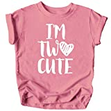Olive Loves Apple Im Two Cute 2nd Birthday Shirt for Toddler Girls Second Birthday Outfit White on Mauve Shirt 2T