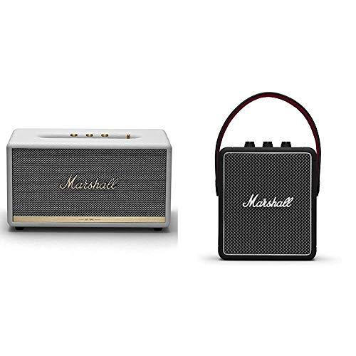 Marshall Stanmore II Wireless Bluetooth Speaker, White - New & Stockwell II Portable Bluetooth Speaker - Black