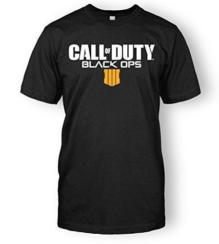 Call of Duty Black Ops 4 Logo Top Tee (Medium, Black)