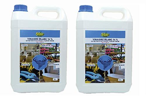 STAR - Vinaigre blanc entretien et nettoyage, parfum pomme. Version en 5L jusqu'à 30 L - VI5 (10, 1)