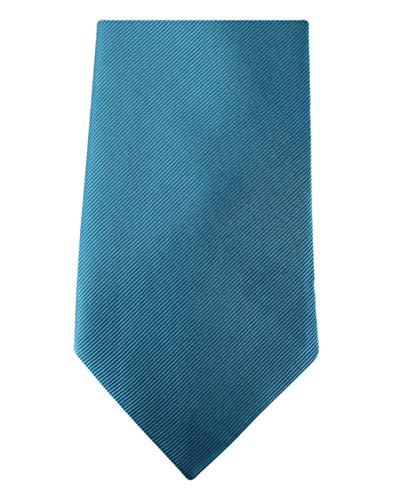 David Van Hagen Bleu Pétrole Diagonal côtelé cravate de