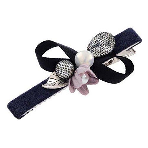 Set Of 2 Hair Clip for Girls/Women Ball Hairpin Hair Barrette,Yellow/Blue