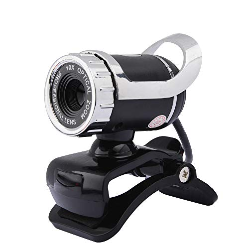 KCatsy USB Video Webcam 0.3MP HD Video Camera met ingebouwde microfoons Netwerk Onderwijzen Conferentie Video Camera's voor Laptop,Desktop,Computer 0.3MP HD ZILVER