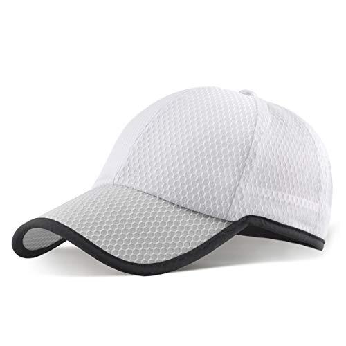 ELLEWIN Gorra de béisbol unisex transpirable de secado rápido - blanco - Large
