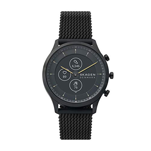 Skagen Men Jorn Hybrid HR - 42mm Silicone Hybrid HR Smart Watch, Color Black (Model: SKT3001)