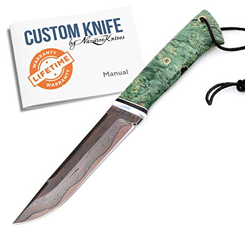 Great Features Of Nazarov Knives Custom Handforged Handmade Knife VEPR - Laminated Colorful Damascus...
