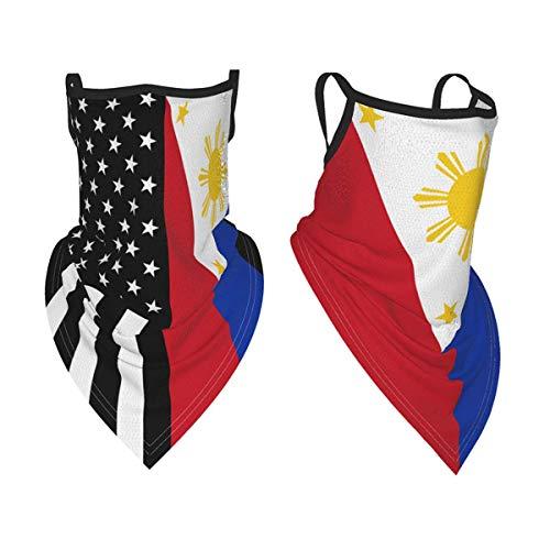 2Pcs Philippines Flag Sports Face Bandana Neck...