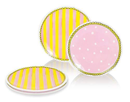 Blond Amsterdam - Eben quatschen - Set 4 Desserttassen ø18cm - Punkte & Streifen