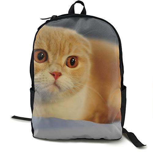 Rucksack mit Katzenklappe, Schottische Punkte, Schultasche, Schulranzen, Büchertasche, Reisen, Laptoprucksack, lässiger Tagesrucksack für Kinder, Studenten, Erwachsene