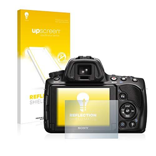 upscreen Entspiegelungs-Schutzfolie kompatibel mit Sony Alpha 37 (SLT-A37) – Anti-Reflex Bildschirmschutz-Folie Matt