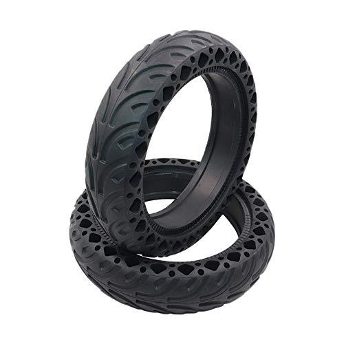 Heritan Neumático sólido de goma 2pcs para Mijia M365/8.5 pulgadas Scooter eléctrico Amortiguador neumático de amortiguación (negro)