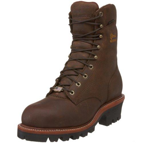 "Chippewa Men's Insulated Waterproof Super Logger 9"" Work Boot Steel Toe Bay Apache 8 E US"