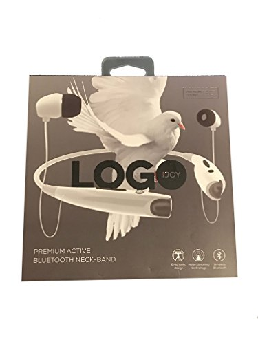 iJoy LGO-NCB-TRE Logo Premium Wireless Active Bluetooth Neck Band Headset Retail Packaging (White)